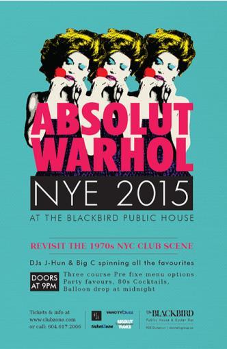 ABSOLUT WARHOL NYE 2015