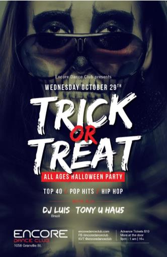Trick or Treat All Ages Party