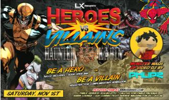 Heroes VS Villains Party