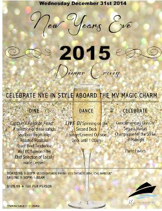NYE Dinner Cruise 2015