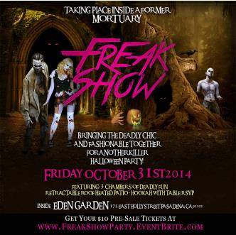 FREAK SHOW! Halloween Party!