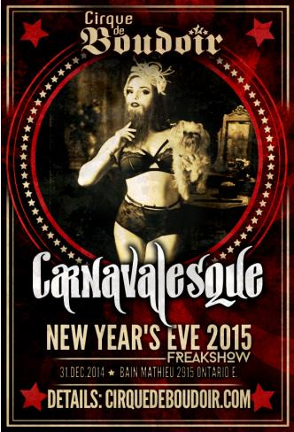 CDB NYE 2015: CARNAVALESQUE