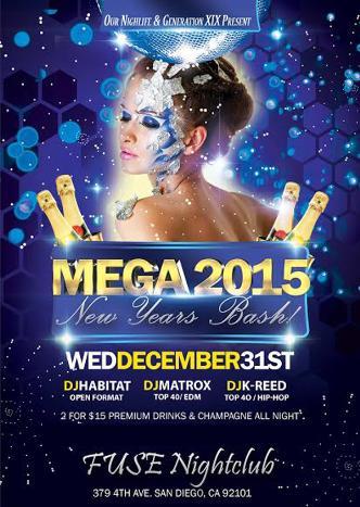 Mega Countdown SD NYE 2015