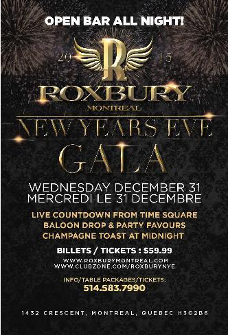 Roxbury New years Eve Gala