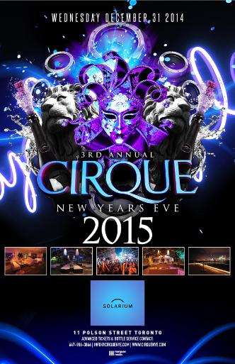 CIRQUE NEW YEARS EVE 2015