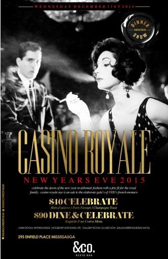 NYE 2015 - CASINO ROYALE