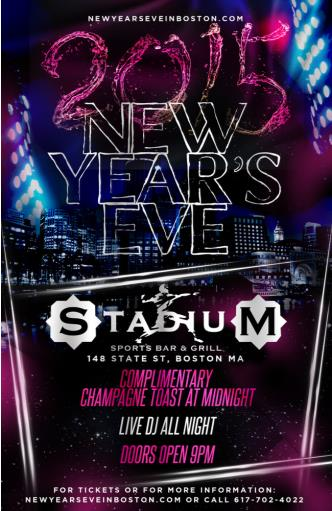 Stadium Bar Boston NYE 2015