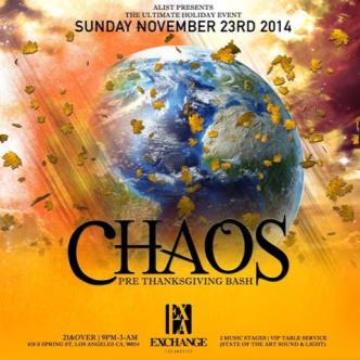 CHAOS - Pre Thanksgiving Bash-img