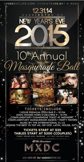 10th NYE Masquerade Ball