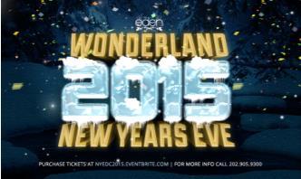 NYE 2015 EDEN DC WONDERLAND