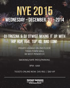 NYE 2015 @ Tinseltown Mall