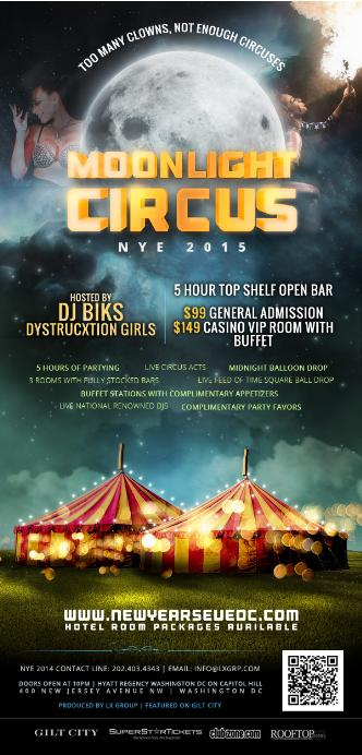 NYE Moonlight Circus 2015