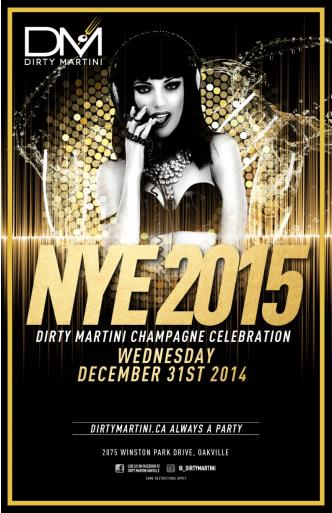 Dirty Martini NYE 2015