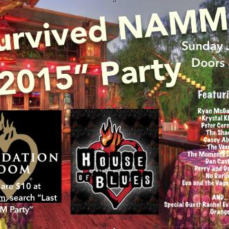 I Survived NAMM 2015 Party-img