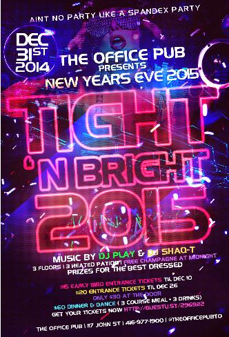Tight N Bright NYE 2015
