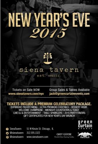 New Year's Eve at Siena Tavern