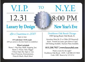 A Luxury by Design NYE 2015