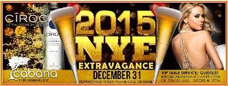 CABANA Lounge NYE 2015