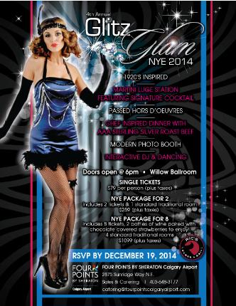 4th Annual Glitz Glam NYE 2015