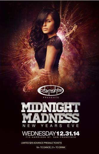 MIDNIGHT MADNESS - NYE 2015