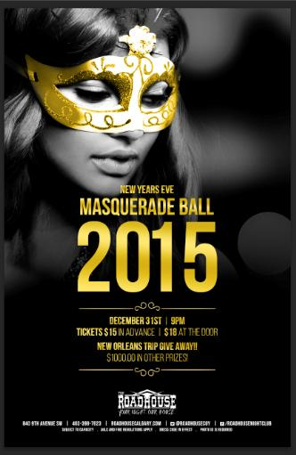 New Years 2015 Masquerade Ball
