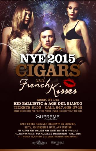 Cigars and French Kisses NYE 2