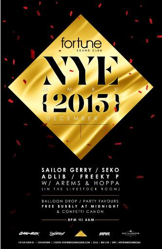 NYE 2015 at Fortune Sound Club