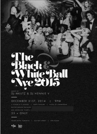 Black & White Ball NYE 2015