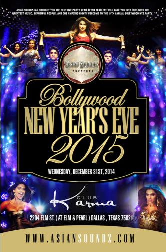 BOLLYWOOD NEW YEAR'S EVE 2015