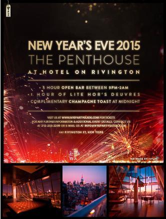 NYE: Rivington Hotel Penthouse