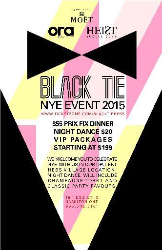 Black Tie NYE15  ORA+HEIST