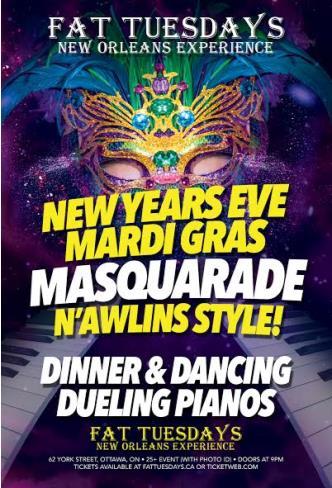 Mardi Gras NYE Masquerade