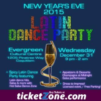 NYE LATIN DANCE PARTY 2015
