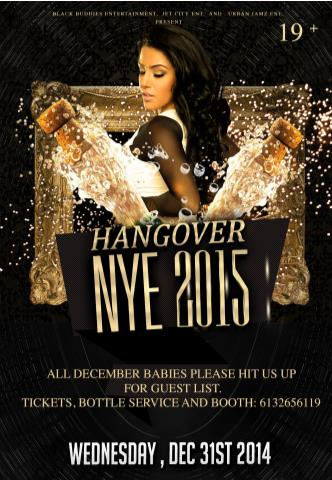 NEW YEAR'S EVE 2015- HANGOVER