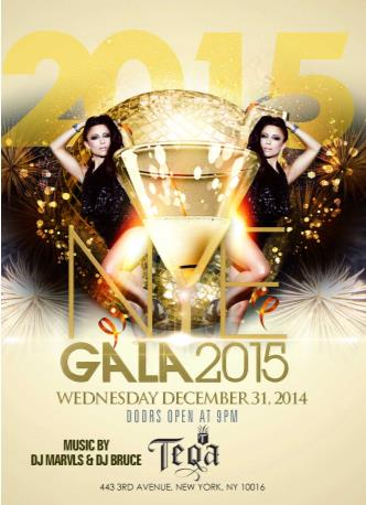 Teqa New Years Eve 2015 Gala