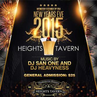 Heights Tavern NYC NYE 2015