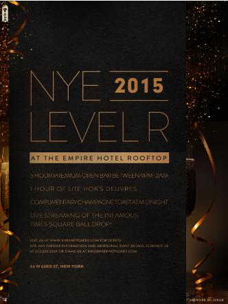 NYE 2015: Level R Empire Hotel