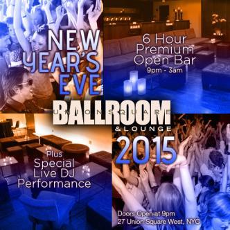 Union Square Ballroom NYE 2015