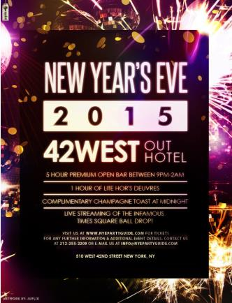 NYE 2015 at 42 West
