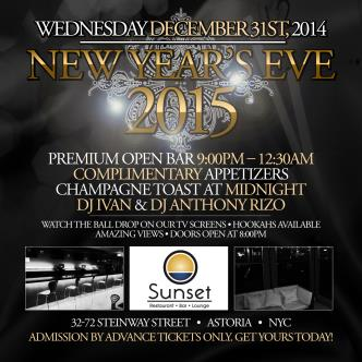 NEW YEAR'S EVE 2015 IN ASTORIA