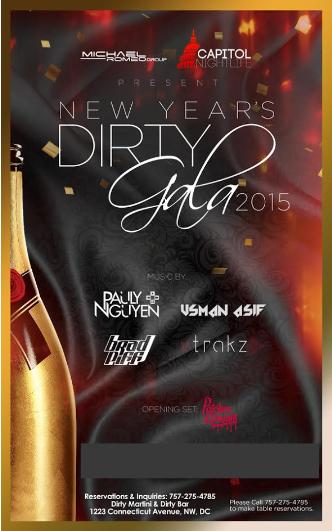New Year's Eve Dirty Gala 2015