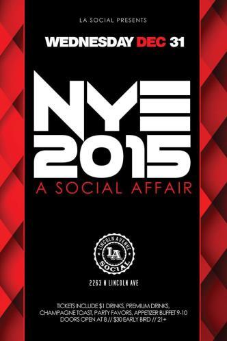 New Year's Eve at L.A. Social
