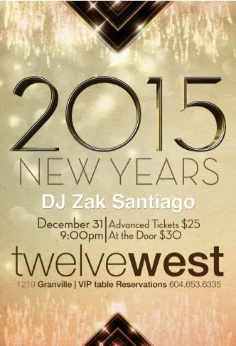 Twelve West NYE 2015