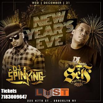 12/31 NEW YEARS EVE @ LUST NY