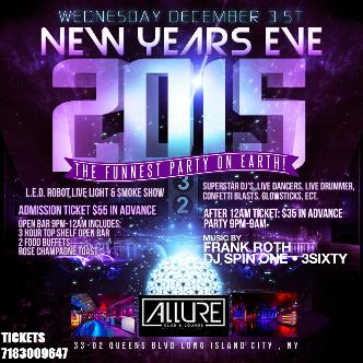 NEW YEARS EVE @ ALLURE 9pm-9am