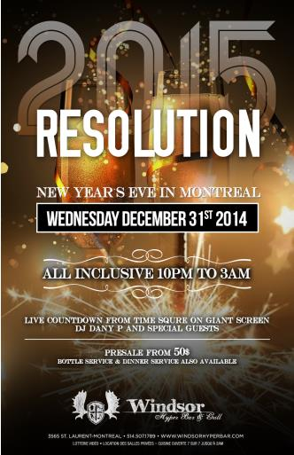 RESOLUTION 2015 - MONTREAL NYE