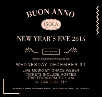 New Years Eve at Isola