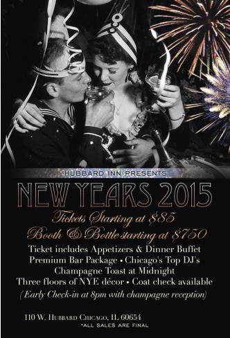 Hubbard Inn New years Eve 2015