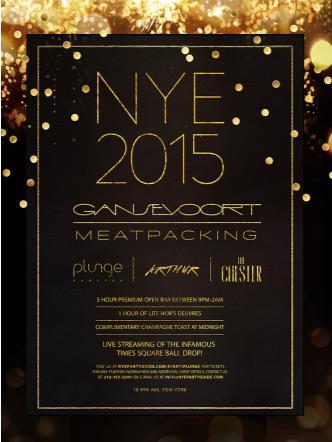NYE 2015: Gansevoort Hotel MPD