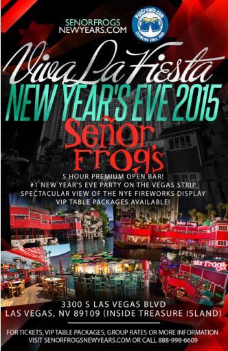 Senor Frogs Vegas New Year's